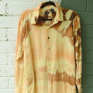 Other - Upcycle Tie Dye Van Heusen Dress Shirt